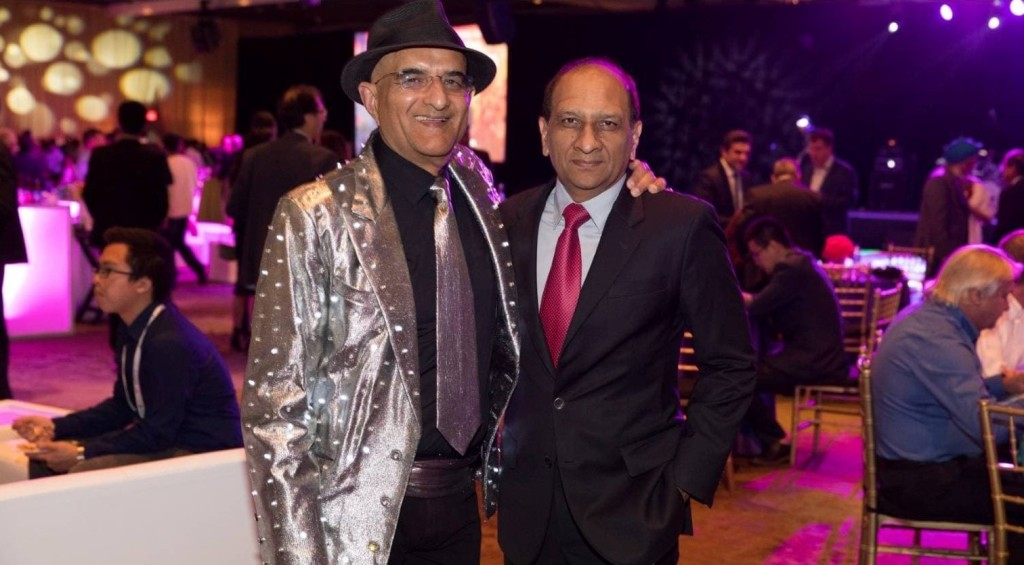 Mr. Ashraf Habibullah, President and CEO, CSI, USA with Dr. Naveed Anwar, Executive Director, AIT Solutions, at the CSI-hosted party.
