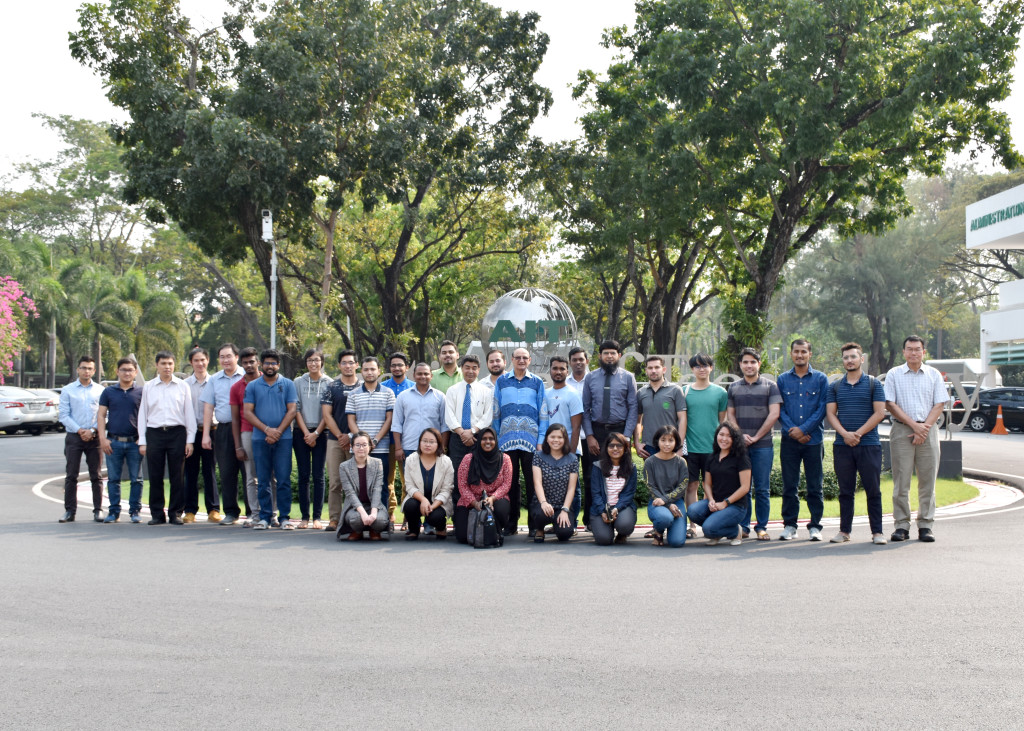 Participants of talk on construction industry and environmental issues